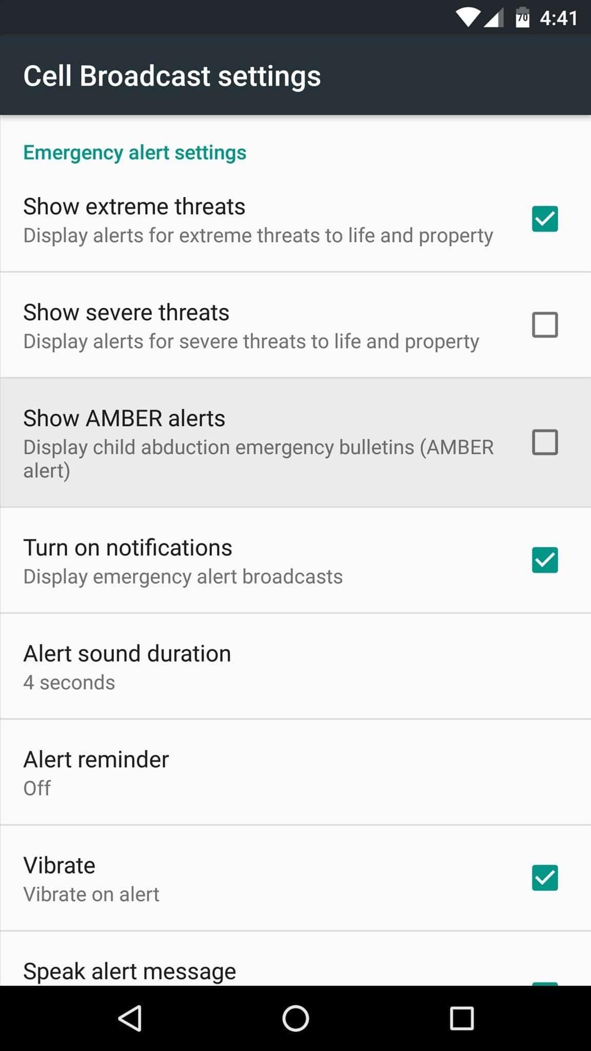 Emergency Alerts 4