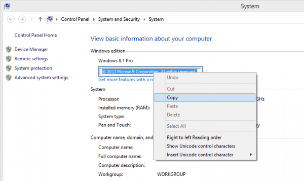 Copy text from any dialog box in Windows