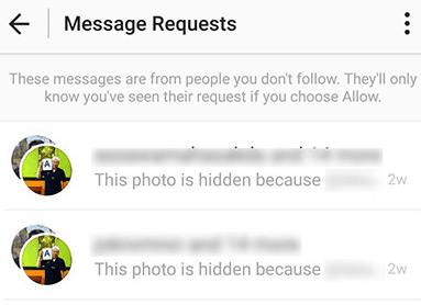 View hidden message requests on Instagram