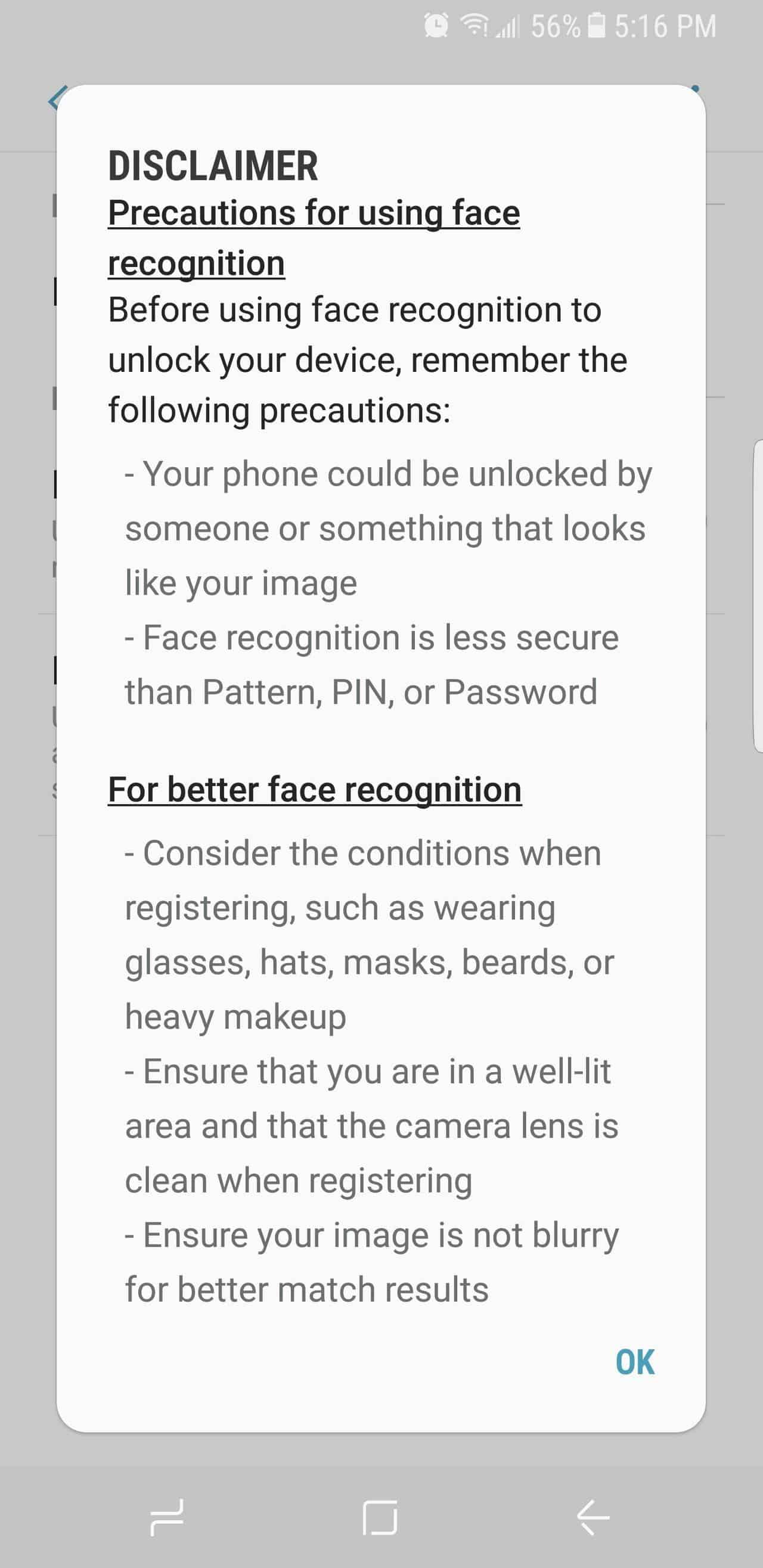 Unlock Samsung Galaxy S8 with facial recognition