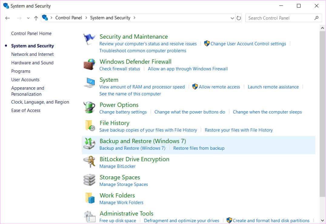 create a system repair disk in Windows 10