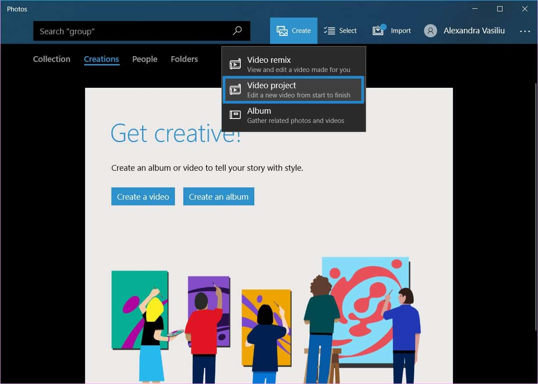 merge videos in Windows 10