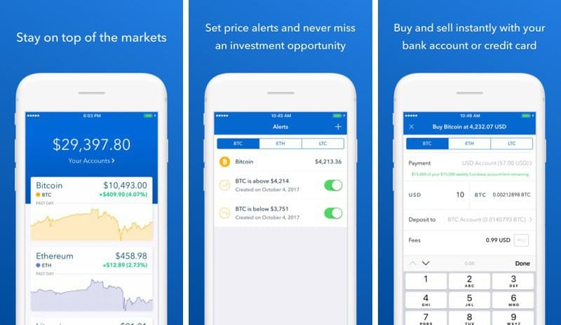 coinbase app for iphone