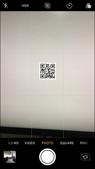 scan QR codes with the iPhone's Camera app