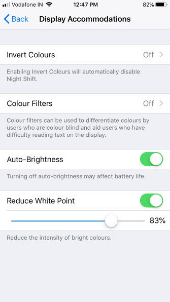 Reduce eye strain on your iPhone