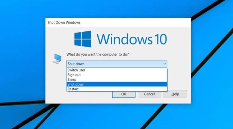 "Download the ""Shut Down Windows"" shortcut in Windows 10"