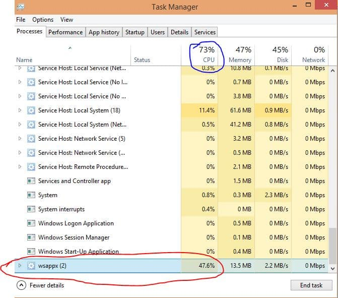 fix 100% disk usage in Windows 10