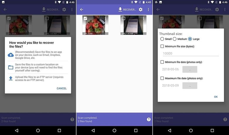 How to recover deleted photos on Android